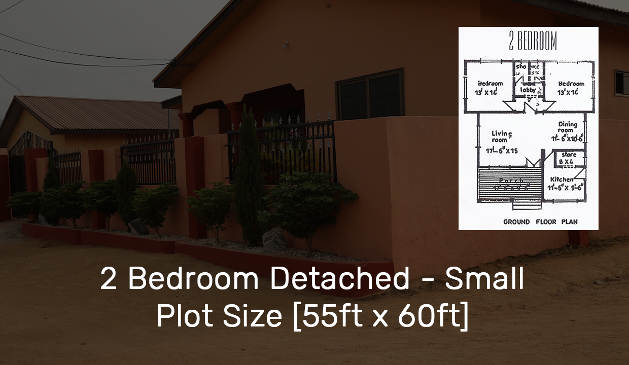 2 Bedroom Detached – Small Plot Size [55ft x 60ft]