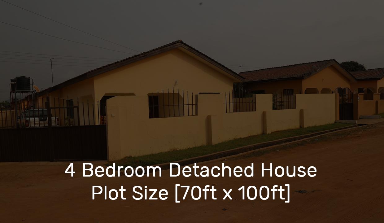 4 Bedroom Detached House Plot Size [70ft x 100ft]